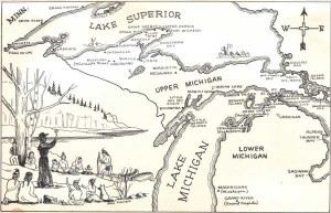 Map of Bishop Baraga's MIssions
